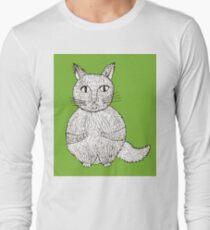 cat cartoon graphic Long Sleeve T-Shirt