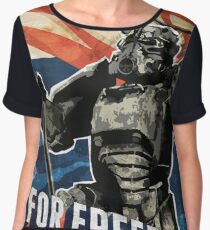 For Freedom! BOS Fallout Poster Women's Chiffon Top