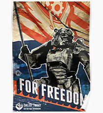 For Freedom! BOS Fallout Poster Poster