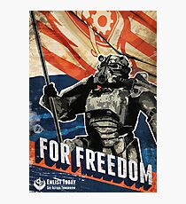 For Freedom! BOS Fallout Poster Photographic Print