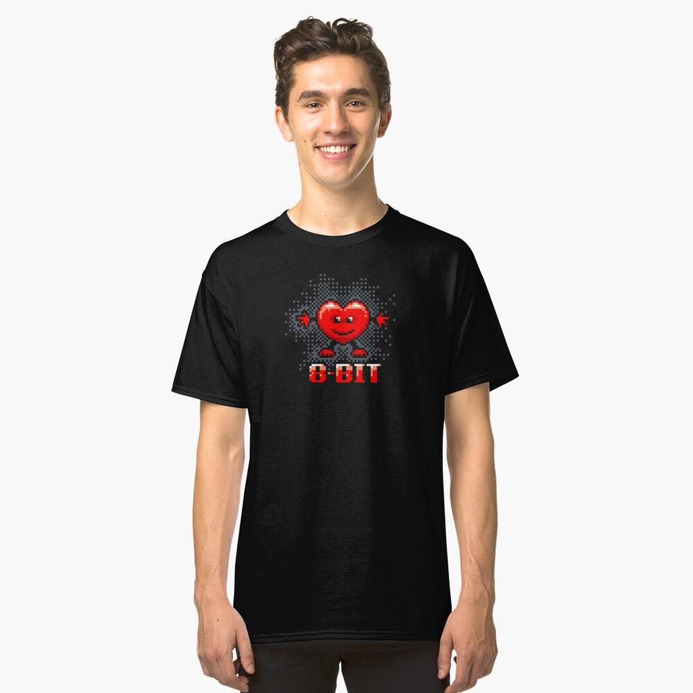 8-bit Heart Classic T-Shirt Front