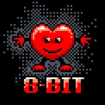 8-bit Heart by Hackers