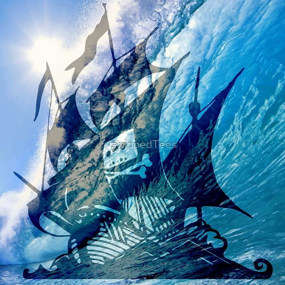 The Pirate Ship by strippedTees