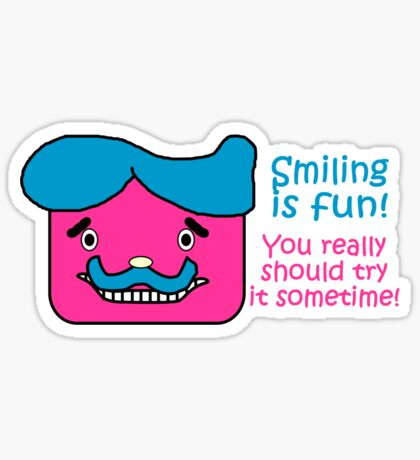 Smiling is Fun Sticker