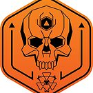 Geo Space Skull Emblem - Full Color by chief9928