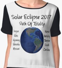 Awesome Solar Eclipse 2017 USA Path Of Totality Tshirt Women's Chiffon Top