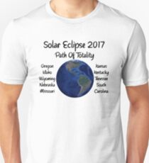 Awesome Solar Eclipse 2017 USA Path Of Totality Tshirt T-Shirt
