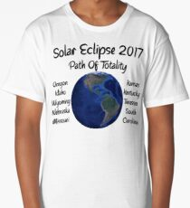 Awesome Solar Eclipse 2017 USA Path Of Totality Tshirt Long T-Shirt