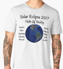 Awesome Solar Eclipse 2017 USA Path Of Totality Tshirt Men's Premium T-Shirt