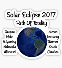 Awesome Solar Eclipse 2017 USA Path Of Totality Tshirt Sticker