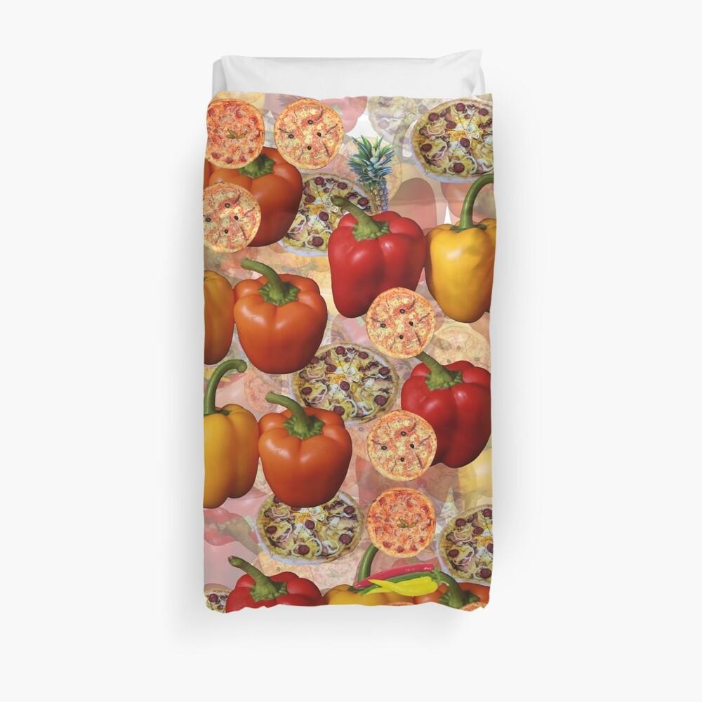 Italian Style Pizza Food Duvet Cover Duvet Cover