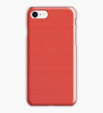 Andromeda Collection - Red Techincal Pattern iPhone Case/Skin