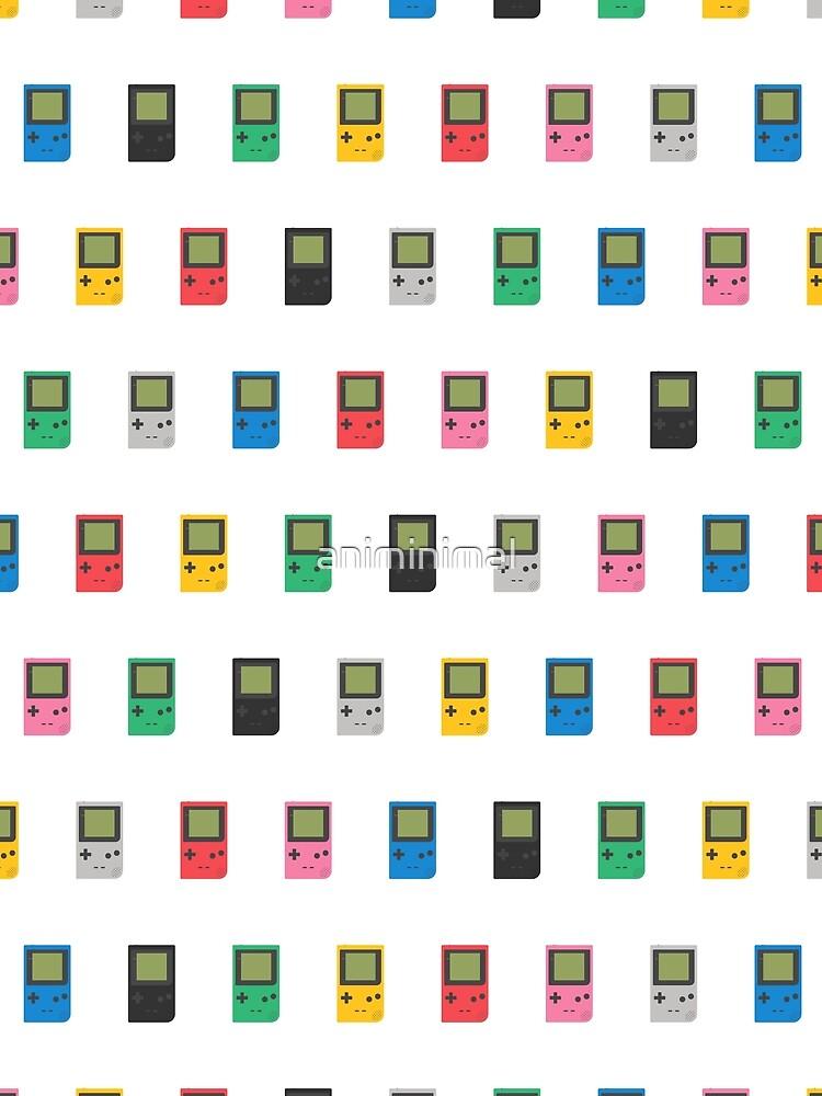 Gameboy Pocket Pattern (white) by animinimal