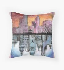 Upside Down World Reflection- Shadowhunters Throw Pillow
