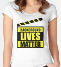 Background Lives Matter! Women's Fitted Scoop T-Shirt