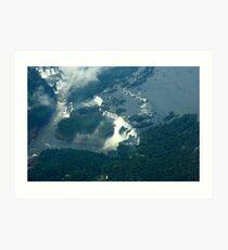 Iguassu Falls Brazil. Art Print