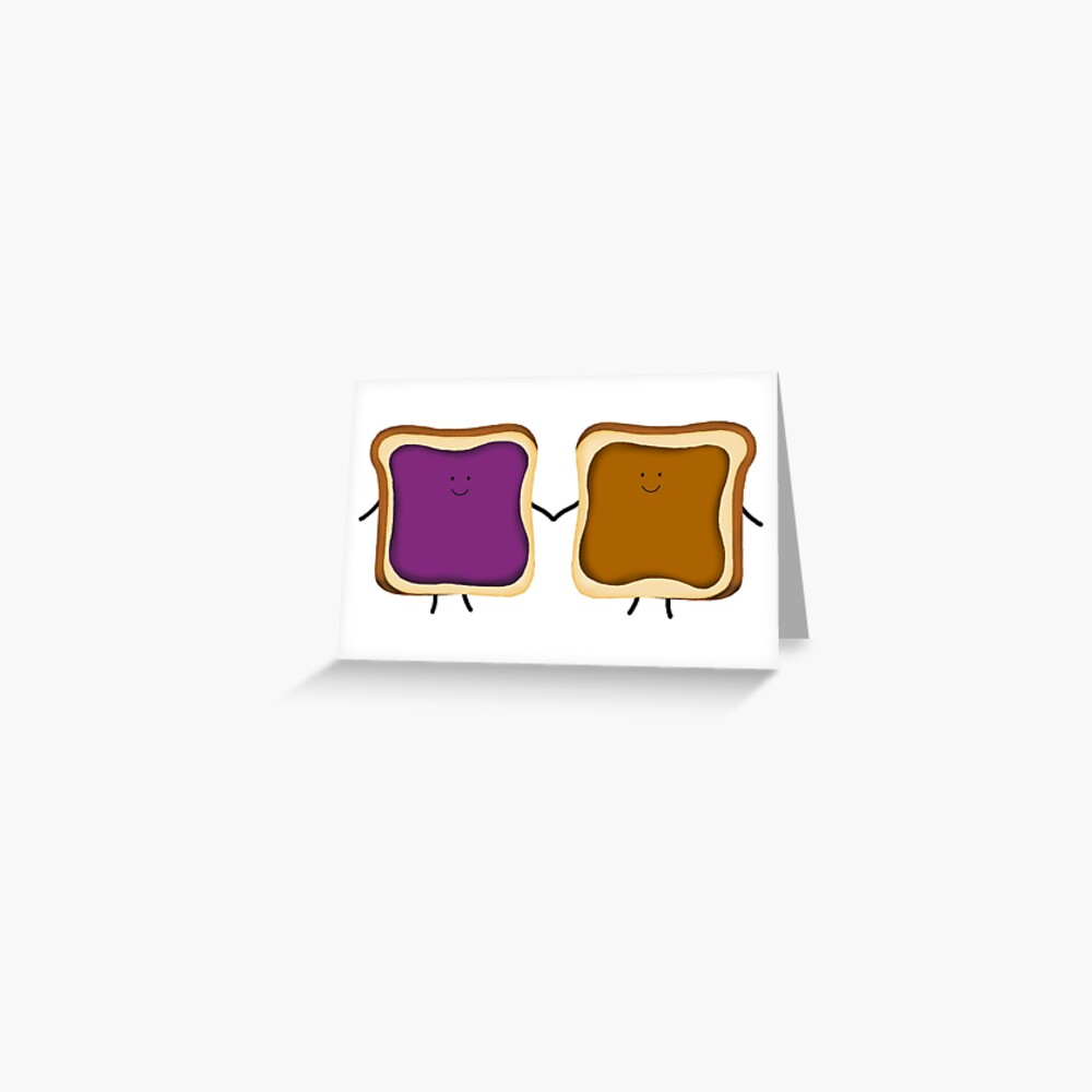Peanut Butter & Jelly Friends Greeting Card