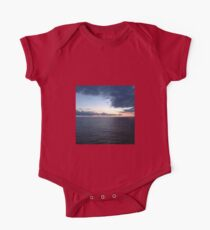 Sea, Ocean, Norway, Cruise, Waves, Sunset, Clouds Kids Clothes