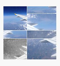 Planes, Travel, Clouds, Ocean view Photographic Print