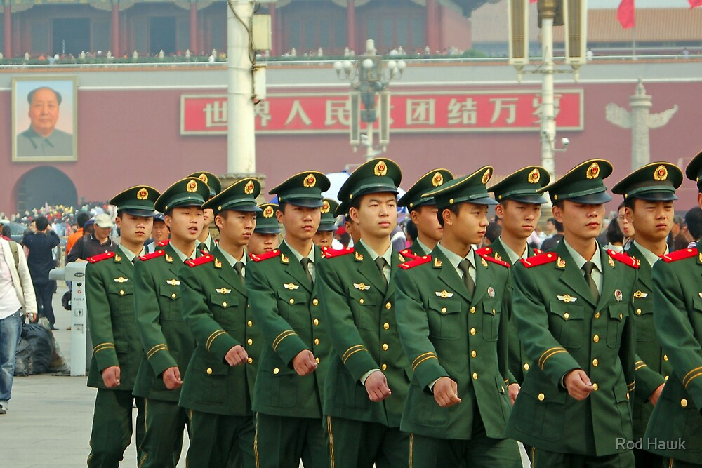 Guards Outside of the Forbidden City by Rod Hawk