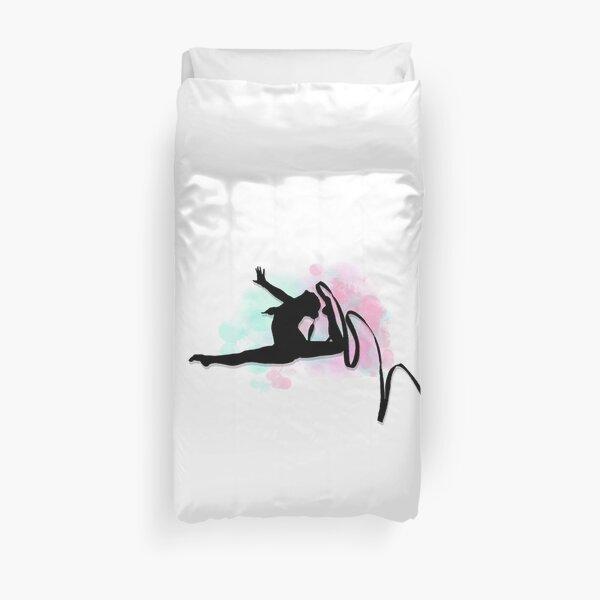 Silhouette de ruban de gymnaste rythmique Housse de couette