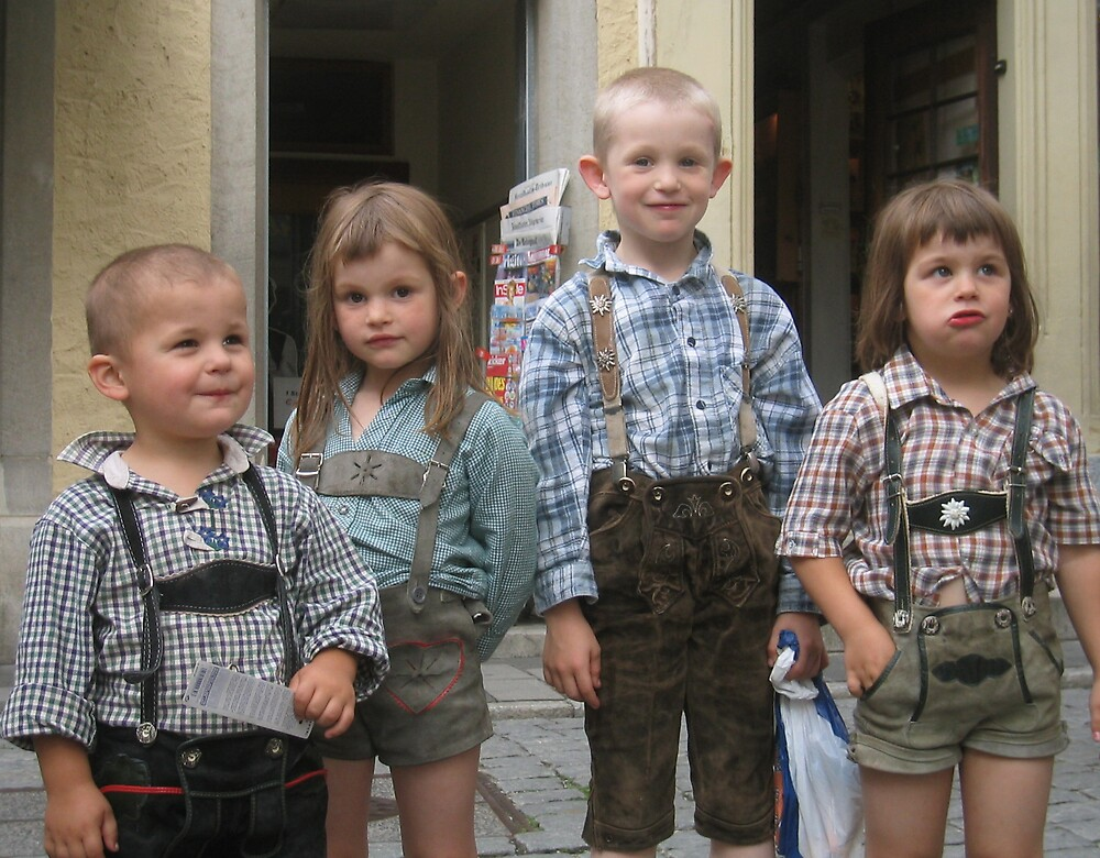German Children in Costume by Simon Zybek
