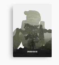 """Spartans Never Die"" - Halo Canvas Print"