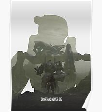 """""""Spartans Never Die"""" - Halo Poster"""