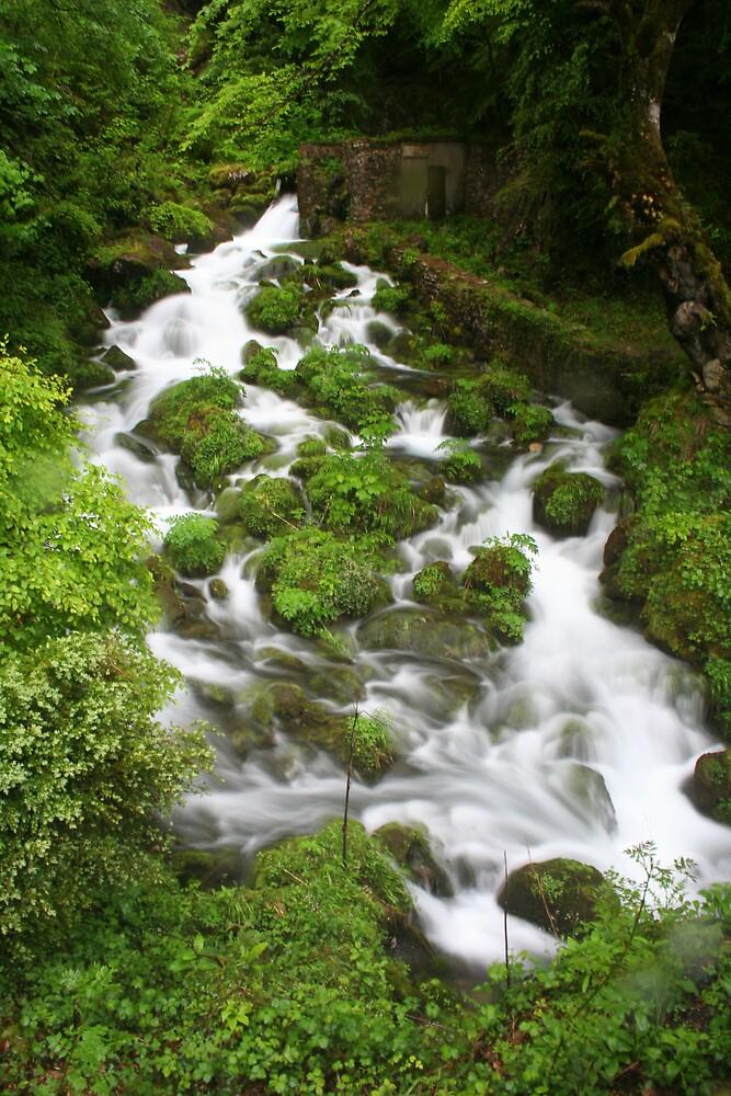 Pyrenees Waterfall by Simon Zybek