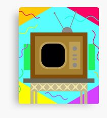 Life of tv  Canvas Print