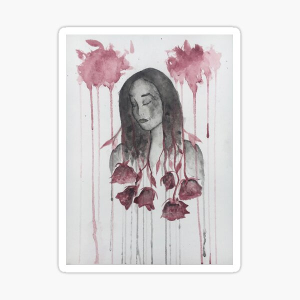 The Sharpest Rose Sticker