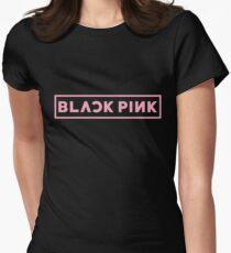 Blackpink Logo- Pink Women's Fitted T-Shirt