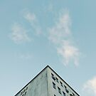 Blue Sky With Detail Building 1/4 by Ana  Freitas Oliveira