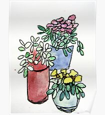 Flowers Watercolour 3 Poster