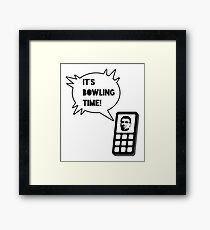 It's bowling time! Framed Print