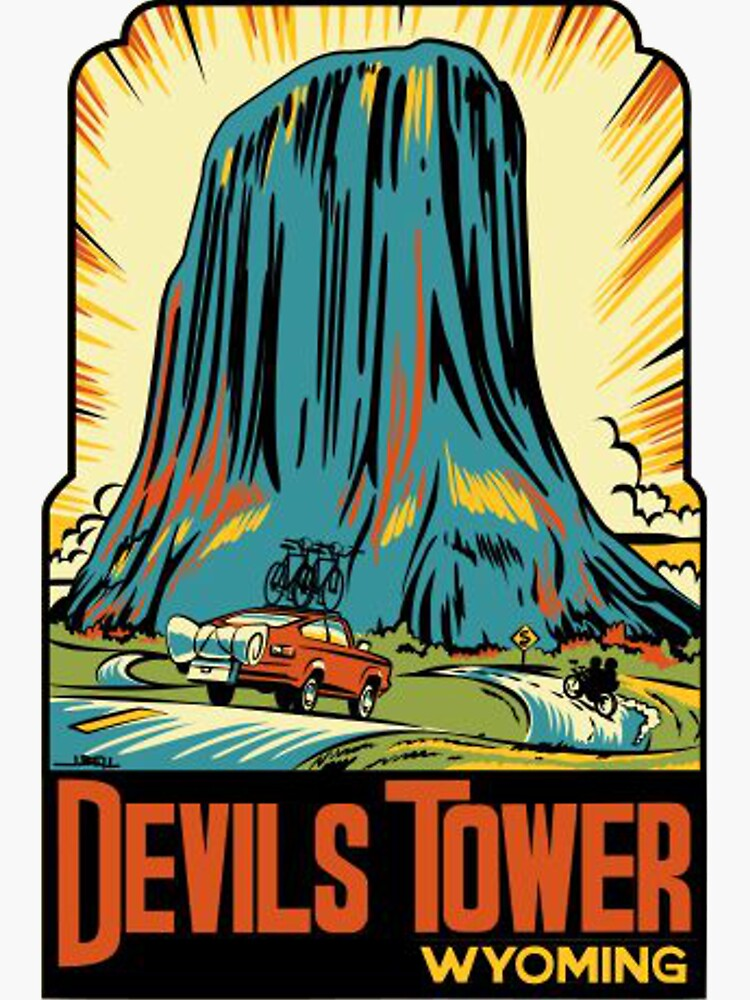 Devil's Tower National Monument Vintage Decal - Wyoming by MeLikeyTees