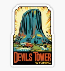 Devil's Tower National Monument Vintage Decal - Wyoming Sticker