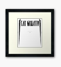 Metallica style quote Framed Print