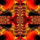 Fire Purifying Gold Fractal Abstract by Artist4God