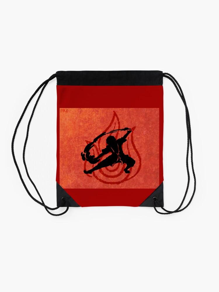 Alternate view of Avatar Fire Bender Drawstring Bag