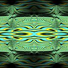 River Borne Sunlight and Shadows Fractal Abstract by Artist4God