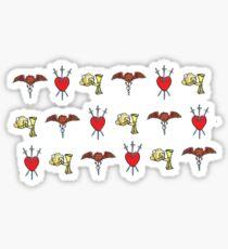 Tarot Symbolism Pattern Sticker