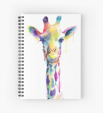Rainbow Giraffe Spiral Notebook