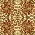 Swirls of Gold Metallic Leaves Fractal Abstract by Artist4God