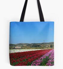 Lompoc California Flower Fields  Tote Bag
