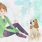 Girl and her best friend by leahkatewrite