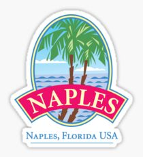 Naples Florida Retro Logo Sticker