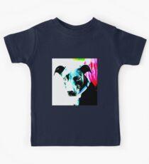 Blue Contrast Dog Kids Clothes