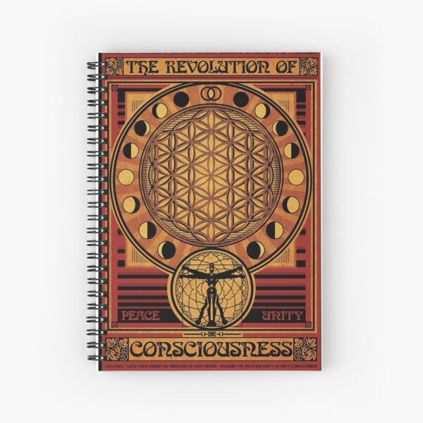 The Revolution of Consciousness | Vintage Propaganda Poster Spiral Notebook