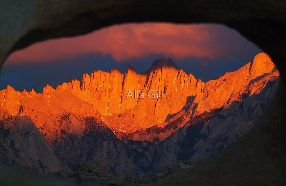 Mountains in Fire  by Alla Gill